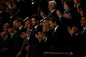 The first lady of France Bridgette Macron claps as French President Emmanuel Macron delivers a joint address to the United States congress at the United States Capitol in Washington, DC on April 25, 2018. Credit: Alex Edelman / CNP