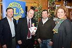 Drogheda Lions Club Christmas presentations (from left) Niall Keelaghan, Drogheda Lions Club, Stephen Barriscale of Tesco, Alan Clarke of Drogheda Lions and Jacinta Walshe of Abacas. Photo: Andy Spearman. www.newsfile.ie