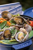 """Europe/France/Bretagne/Ille et Vilaine/St Malo/Rotheneuf: Cocotte de praires et légumes d'ici, recette du restaurant """"le Benetin"""""""