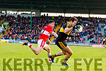Mikey Geaney Dingle in action against Eoin Brosnan of Dr. Crokes during the Kerry County Senior Club Football Championship Final match between Dr Crokes and Dingle at Austin Stack Park in Tralee, Kerry on Sunday.