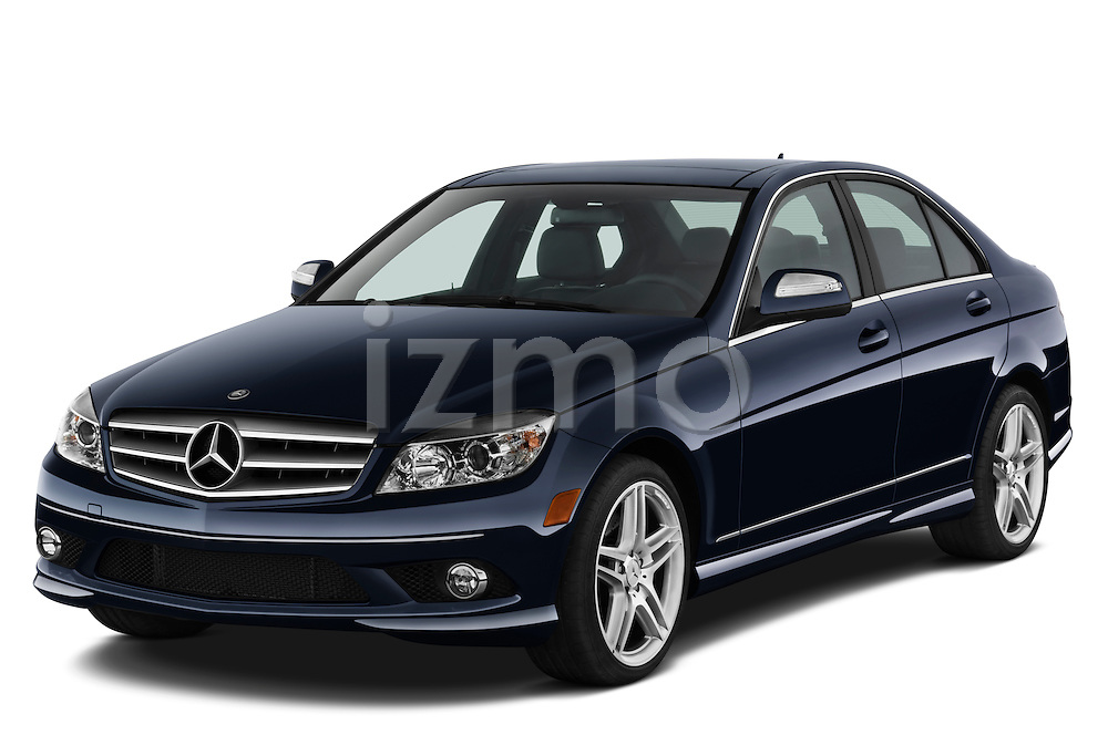 Front three quarter view of a 2008 Mercedes Benz C350 sedan