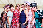 Helena Halpin, Theresa Doe, Sheila O'Connell, Lisa Breen, Sharon Quilter and Joanne O'Flaherty, all from Listowel, enjoying Ladies Day at Listowel Races on Friday last.