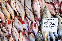 Fresh corvina fish for sale are seen at Mercado de Mariscos seafood and fish market in Panama City, Panama, 1 February 2015.
