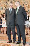 El Ministro de Justicia D. Alberto Ruiz Gallardón junto al Fiscal General del Estado D. Eduardo Torres Dulce en la audiencia de S.A.R. El Principe de Asturias con la promoción de nuevos fiscales