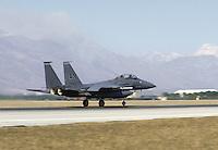 - FA 15 fighter bomber aircraft on the USA air base of  Aviano (Pordenone, Italy)....- cacciabombardiere FA 15 nella base aerea USA di Aviano ....