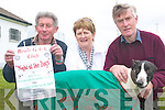Beale: Robert Stack, Ann and Tom Costello and Tom the dog all gearing up for the Beale GAA night at the dogs at the Kingdom Greyhound Stadium on Friday, April 12th to raise funds for the Beale GAA facilities development vision 2008/2009.   Copyright Kerry's Eye 2008