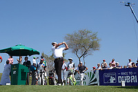 Gaganjeet Bhullar (IND) on the 1st tee during the final round of the Oman Open, Al Mouj Golf, Muscat, Sultanate of Oman. 03/03/2019<br /> Picture: Golffile | Phil Inglis<br /> <br /> <br /> All photo usage must carry mandatory copyright credit (&copy; Golffile | Phil Inglis)