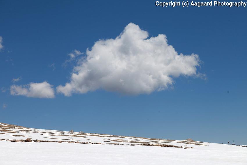 Lone cloud near Summit Lake, Mount Evans