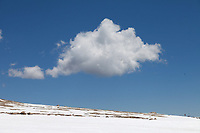 Lone cloud near Summit Lake, Mount Evans