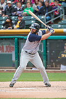Shane Peterson (21) of the Colorado Springs Sky Sox at bat against the Salt Lake Bees in Pacific Coast League action at Smith's Ballpark on May 22, 2015 in Salt Lake City, Utah.  (Stephen Smith/Four Seam Images)