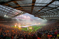 Picture by Allan McKenzie/SWpix.com - 07/10/2017 - Rugby League - Betfred Super League Grand Final - Castleford Tigers v Leeds Rhinos - Old Trafford, Manchester, England - A general view, gv, as Castleford Tigers and Leeds Rhinos come out to Old Trafford to contest the BetFred Super League Grand Final.