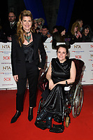 LONDON, UK. January 22, 2019: Connie Hyde &amp; Sherylee Houston at the National TV Awards 2019 at the O2 Arena, London.<br /> Picture: Steve Vas/Featureflash