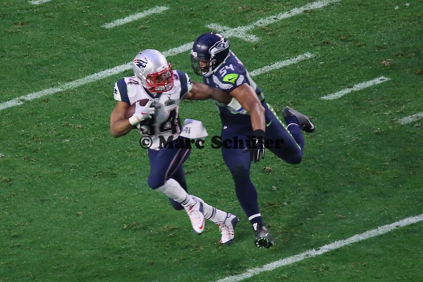 RB Shane Vereen (Patriots) gegen LB Bobby Wagner (Seahawks) - Super Bowl XLIX, Seattle Seahawks vs. New England Patriots, University of Phoenix Stadium, Phoenix