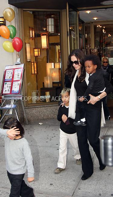 WWW.ACEPIXS.COM ** ** ** ....October 4 2008, New York City....Actress Angelina Jolie took some of her children to an art shop in midtown Manhattan on October 4 2008 in New York City.....Please byline: STAN ROSE -- ACEPIXS.COM.. *** ***  ..Ace Pictures, Inc:  ..tel: (646) 769 0430..e-mail: info@acepixs.com..web: http://www.acepixs.com