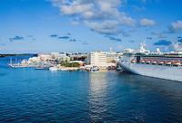Cruise ship docked in Hamilton harbor, Bermuda