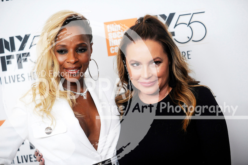 Mary J. Blige und Angie Martinez bei der Premiere von 'Mudbound' auf dem 55. New York Film Festival in der Alice Tully Hall. New York, 12.10.2017