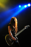 Kaohsiung, Taiwan -- Guitarist MAY of the Japanese metal band SOUNDWITCH on stage during the 'Kiss Me Kill Me 2011 Tour' at The Wall Live House (Pier 2) in Kaohsiung, Taiwan.