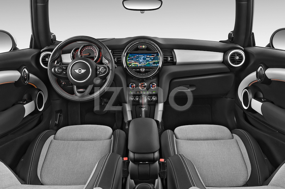 Stock photo of straight dashboard view of2015 MINI MINI COOPER S 3 Door Hatchback 2WD Dashboard