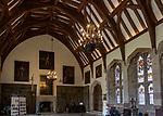 Great hall inside Berkeley castle, Gloucestershire, England, UK