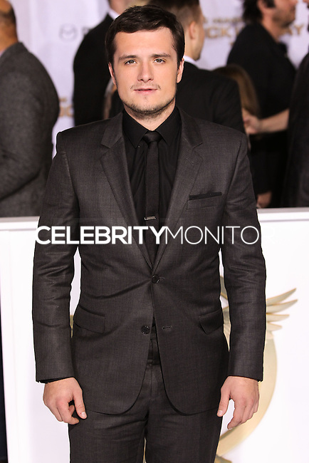 LOS ANGELES, CA, USA - NOVEMBER 17: Josh Hutcherson arrives at the Los Angeles Premiere Of Lionsgate's 'The Hunger Games: Mockingjay, Part 1' held at Nokia Theatre L.A. Live on November 17, 2014 in Los Angeles, California, United States. (Photo by Rudy Torres/Celebrity Monitor)