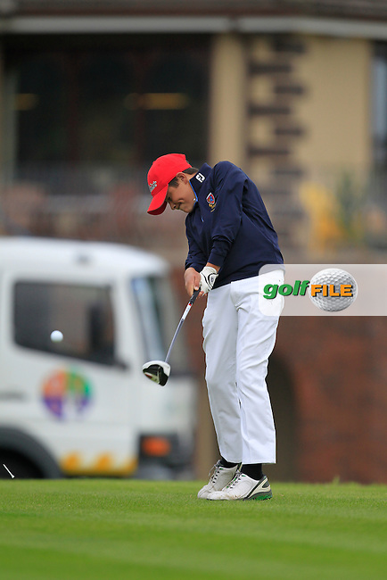 Charlie Denvir (Milltown) on the 1st tee during the Irish Boys Under 15 Amateur Open Championship Round 2 at the West Waterford Golf Club on Wednesday 21st August 2013 <br /> Picture:  Thos Caffrey/ www.golffile.ie