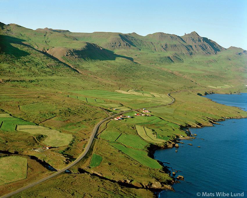 Brímnes séð til austurs, Fjarðabyggð áður Fáskrúðsfjarðarhreppur / Brimnes viewing east, Fjardabyggd former Faskrudsfjardarhreppur.