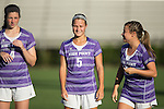 Annie Redovian (5) of the High Point Panthers during player introductions prior to the match against the Duke Blue Devils at Koskinen Stadium on September 11, 2016 in Durham, North Carolina.  The Blue Devils defeated the Panthers 4-1.   (Brian Westerholt/Sports On Film)