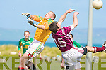 Castlegregory's Shane Kenny and Dromid Pearses Niall O'Shea.