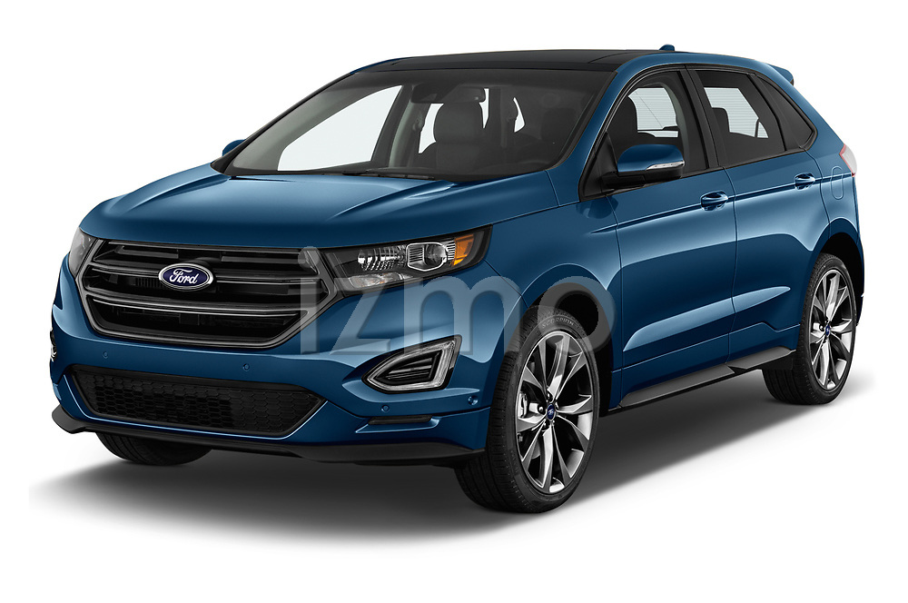 2017 Ford Edge Sport 5 Door SUV angular front stock photos of front three quarter view