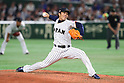 Takahiro Norimoto (JPN), <br /> MARCH 7, 2017 - WBC : <br /> 2017 World Baseball Classic <br /> First Round Pool B Game <br /> between Japan - Cuba <br /> at Tokyo Dome in Tokyo, Japan. <br /> (Photo by YUTAKA/AFLO SPORT)