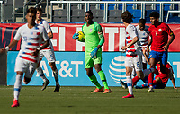 CARSON, CA - FEBRUARY 1: Sean Johnson #1 of the United States with the ball during a game between Costa Rica and USMNT at Dignity Health Sports Park on February 1, 2020 in Carson, California.