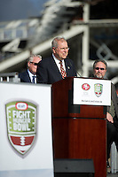 Santa Clara, Ca - Tuesday, November 20, 2012: The Kraft Bowl and the San Francisco 49ers announce that the Kraft Bowl with be played in the new stadium in 2014.