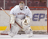 Glenn Fisher - Reigning national champions (2004 and 2005) University of Denver Pioneers practice on Friday morning, December 30, 2005 before hosting the Denver Cup at Magness Arena in Denver, CO.