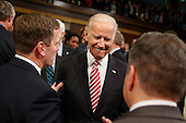 Vice President Joe Biden arrives before the State of the Union address to a joint session of Congress on Capitol Hill in Washington, Tuesday, Jan. 12, 2016.<br /> Credit: Evan Vucci / Pool via CNP