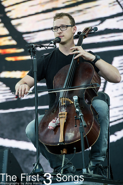 Ben Sollee performs at the 2nd Annual BottleRock Napa Festival at Napa Valley Expo in Napa, California.