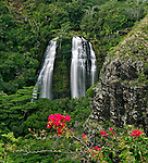 Opaeka'a Falls, located on the Wailua River in Wailua River State Park, in the eastern part of Kauai, Hawaii