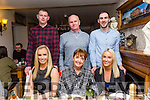 Aisling Swytzer having a night out with family before going Travelling at Bella Bia's on Saturday Front l-r niamh swytzer, Breda Swytzer, Aisling Swytzer Back l-r Garry Savage, Johnny Swytzer, Luke McCabe
