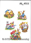 Interlitho-Theresa, EASTER, OSTERN, PASCUA, paintings+++++,5 easter rabbits,KL4511,#e#, EVERYDAY