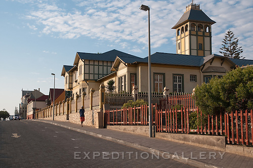 Historic building in Swakopmund, Namibia, Africa. [NO PROPERTY RELEASE]