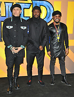 Taboo, Will.I.Am and Apl.de.ap at the &quot;Black Panther&quot; European film premiere, Hammersmith Apollo (Eventim Apollo), Queen Caroline Street, London, England, UK, on Thursday 08 February 2018.<br /> CAP/CAN<br /> &copy;CAN/Capital Pictures