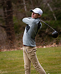 WATERTOWN,  CT-041119JS14-  Torrington's Brayden Nietch tees off on 15th hole during their match with Watertown Thursday at Crestbrook Park in Watertown. <br /> Jim Shannon Republican American