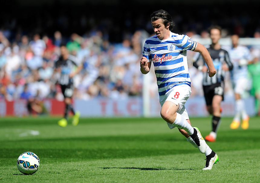 Queens Park Rangers' Joey Barton in action during todays match  <br /> <br /> Photographer Ashley Western/CameraSport<br /> <br /> Football - Barclays Premiership - Queens Park Rangers v Newcastle United - Saturday 16th May 2015 - Loftus Road - London<br /> <br /> &copy; CameraSport - 43 Linden Ave. Countesthorpe. Leicester. England. LE8 5PG - Tel: +44 (0) 116 277 4147 - admin@camerasport.com - www.camerasport.com