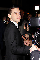 LONDON, ENGLAND - FEBRUARY 09 :  Rami Malek arrives at the Charles Finch and Chanel pre-BAFTA party at Loulou's on February 09, 2019 in London, England.<br /> CAP/AH<br /> &copy;Adam Houghton/Capital Pictures