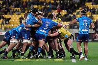 Super Rugby - Hurricanes v Blues at Westpac Stadium, Wellington, New Zealand on Saturday 7 July 2018.<br /> Photo by Masanori Udagawa. <br /> www.photowellington.photoshelter.com