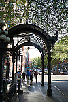 Seattle, Pioneer Square, Iron Pergola, Pioneer Square Historical District, architectural preservation, Washington State, Pacific Northwest, United States,