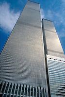 - New York, the twin towers of the World Trade Center, destroyed in the terroristic attack of the 11 september 2001 ....- New York, le torri gemelle del World Trade Center, distrutte nell'attentato terroristico dell'11 settembre 2001