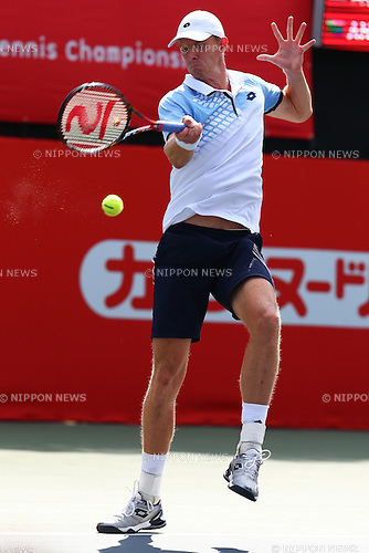 Kevin Anderson (RSA), October 6, 2015 - Tennis : Rakuten Japan Open Tennis Championships 2015, the First match between Gilles Muller (LUX) - Kevin Anderson (RSA)  at Ariake Coliseum, Tokyo, Japan. (Photo by Shingo Ito/AFLO SPORT)
