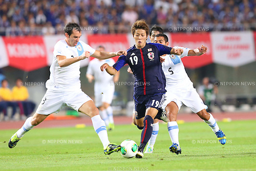 Yoichiro Kakitani (JPN), <br /> AUGUST 14, 2013 - Football / Soccer : <br /> KIRIN Challenge Cup 2013 match <br /> between Japan 2-4 Uruguay <br /> at Miyagi Stadium, Miyagi, Japan.<br />  (Photo by AFLO SPORT)