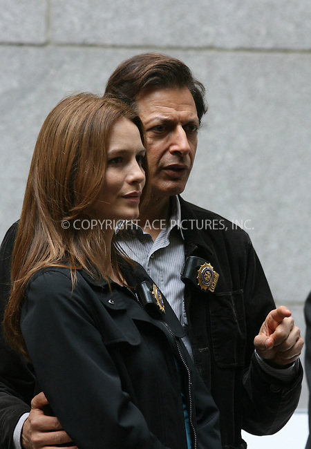 WWW.ACEPIXS.COM . . . . .  ....EXCLUSIVE - ALL ROUNDER....May 14 2010, New York City....Actors Saffron Burrows and Jeff Goldblum on the Upper West Side set of the TV show 'Law and order - Criminal Intent' on May 14 2010 in New York City....Please byline: PHILIP VAUGHAN - ACE PICTURES.... *** ***..Ace Pictures, Inc:  ..Philip Vaughan (212) 243-8787 or (646) 679 0430..e-mail: info@acepixs.com..web: http://www.acepixs.com