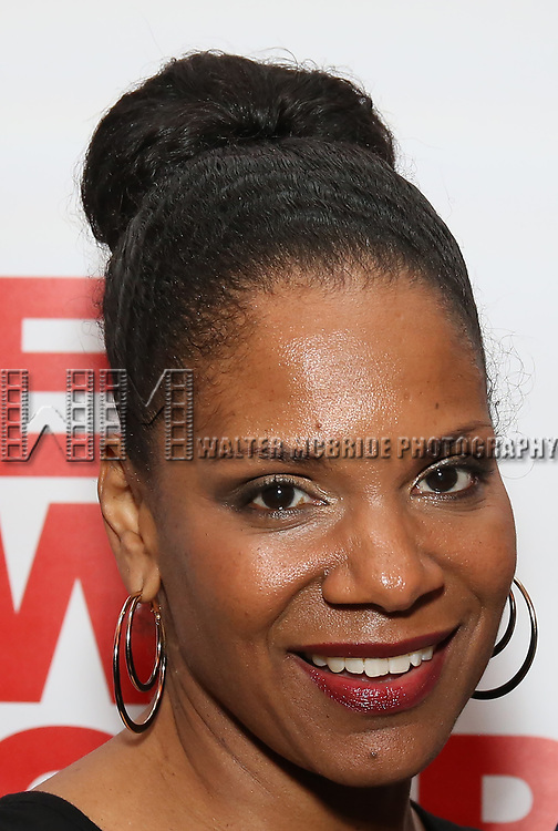 """Audra McDonald attends the Off-Broadway Opening Night Premiere of  """"Jerry Springer-The Opera"""" on February 22, 2018 at the Roundabout Rehearsal Studios in New York City."""